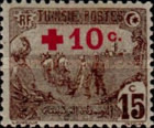 [Prisoners-of-War Fund - Surcharged with Red Cross and 10c, type F7]