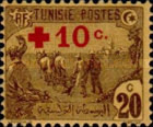 [Prisoners-of-War Fund - Surcharged with Red Cross and 10c, type F8]