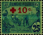 [Prisoners-of-War Fund - Surcharged with Red Cross and 10c, type F9]