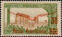 "[Airmail - Issue of 1906 Overprinted ""Poste Aerienne"" and Wings or Surcharged 30c, type G10]"