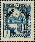 [Tunisian Postal Service - Issues of 1931 Surcharged, type Q5]