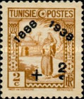 [Tunisian Postal Service - Issues of 1931 Surcharged, type Q6]