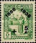 [Tunisian Postal Service - Issues of 1931 Surcharged, type Q8]