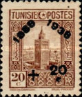 [Tunisian Postal Service - Issues of 1931 Surcharged, type R6]