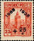 [Tunisian Postal Service - Issues of 1931 Surcharged, type R7]
