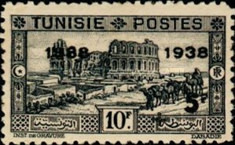 [Tunisian Postal Service - Issues of 1931 Surcharged, type T10]