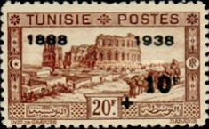 [Tunisian Postal Service - Issues of 1931 Surcharged, type T11]