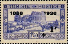 [Tunisian Postal Service - Issues of 1931 Surcharged, type T6]