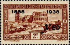[Tunisian Postal Service - Issues of 1931 Surcharged, type T7]