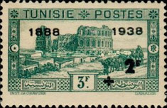[Tunisian Postal Service - Issues of 1931 Surcharged, type T8]