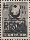 [Postage Stamps Overprinted & Surcharged - Small Crescent, Typ F]