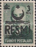 [Postage Stamps Overprinted & Surcharged - Small Crescent, Typ F3]
