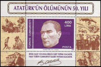 [The 50th Anniversary of the Death of Kemal Ataturk - President, 1923-1938, Typ ]