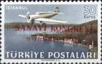 [Airmail Stamps - Industrial Congress, Ankara, type AGU3]