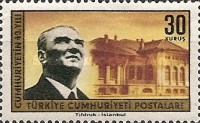 [The 40th Anniversary of the Turkish Republic, Typ AZL]