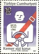[Flowers and Road Safety Stamps Surcharged, type CCC2]