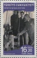 [Definitives - Life of Mustafa Kemal Atatürk, 1881-1938, type FLB]