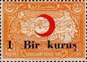 [Red Crescent & Map of Turkey Stamps of 1928 Surcharged, Typ C3]