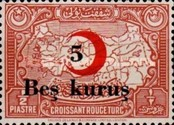 [Red Crescent & Map of Turkey Stamps of 1928 Surcharged, Typ C4]