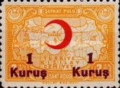 [Red Crescent & Map of Turkey Stamp of 1938 Surcharged, Typ J8]