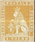 [Lion of Toscany - Printed on White Paper, Different Watermark, Typ A14]