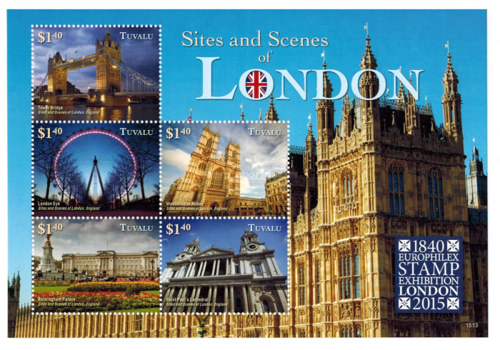 [Sites & Scenes of London - World Stamp Exhibition LONDON 2015, type ]