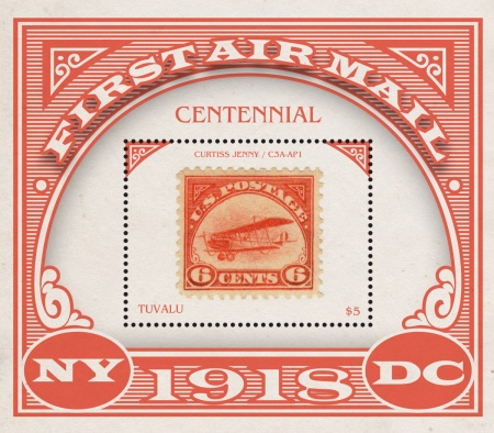 [The 100th Anniversary of the Beginning of Regular Airmail Service in the U.S.A., type ]