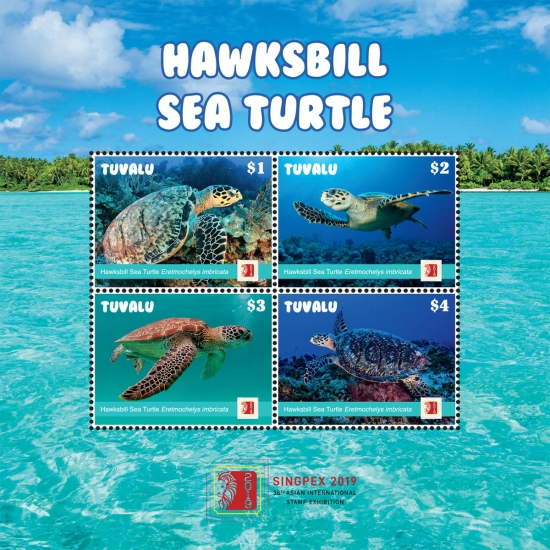 [Hawksbill Sea Turtle - International Stmap Exhibition SINGPEX 2019, Singapore, Typ ]