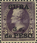 [United States Postage Stamps Surcharged, type AF]