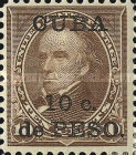 [United States Postage Stamps Surcharged, type AH]