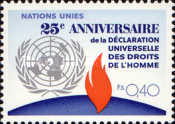 [The 25th Anniversary of the UN Human Rigths, type AF]