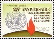[The 25th Anniversary of the UN Human Rigths, type AF1]