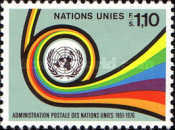[The 25th Anniversary of UN Mail, Typ AT1]