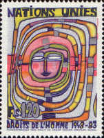 [The 35th Anniversary of the Human Rights, Paintings by Hundertwasser, type CN]