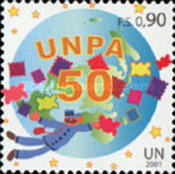 [The 50th Anniversary of the United Nations Postal Administration - UNPA, type NZ]