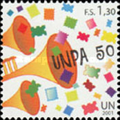 [The 50th Anniversary of the United Nations Postal Administration - UNPA, type OA]