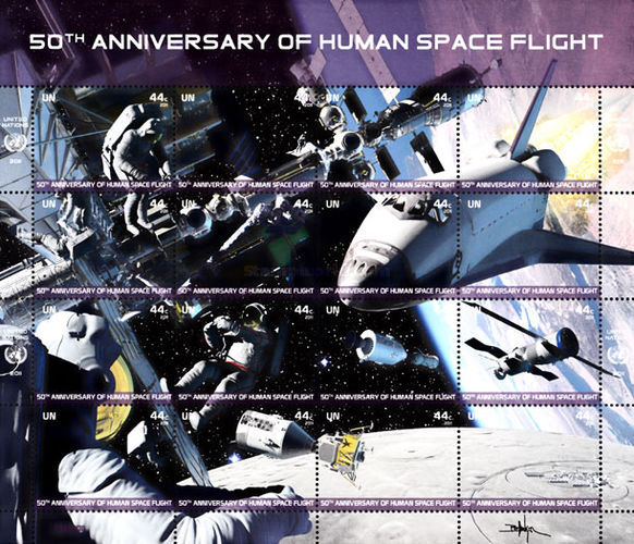 [The 50th Anniversary of Manned Space Flights, type ]