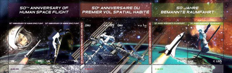 [the 50th Anniversary of Manned Space Flights - Joint United Nations Issue, type ]