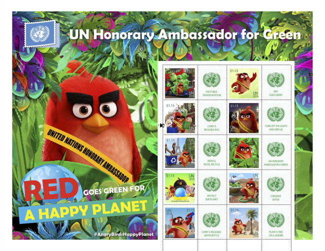 [Personalized Stamps - Red from the Angry Birds Appointed as the Honorary Ambassador for Green, type ]