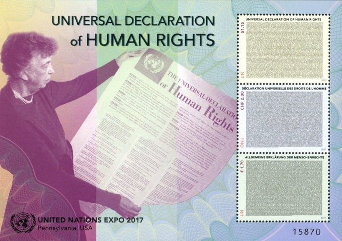 [International Stamp Exhibition UNEXPO17, Bellefonte - The 70th Anniversary of the Universal Declaration of Human Rights, type ]