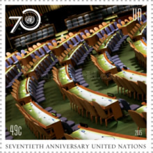 [The 70th Anniversary of the United Nations, type AXR]