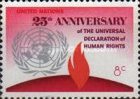 [The 25th Anniversary of Declaration of Human Rights, type FG]