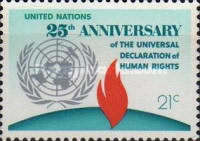 [The 25th Anniversary of Declaration of Human Rights, type FG1]