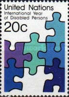[International Year of Disabled Persons, type IE]