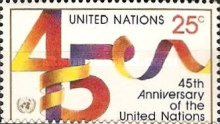 [The 45th Anniversary of the United Nations, type RB]