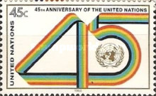 [The 45th Anniversary of the United Nations, type RC]