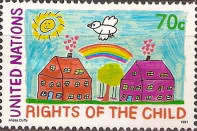 [The 30th Anniversary of U.N. Declaration on the Rights of the Child and the 1990 World Summit on Children, New York - Children's Drawings, type RP]