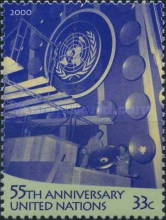 [The 55th Anniversary of the United Nations and the 50th Anniversary of Opening of U.N. Headquarters, New York, type ZV]