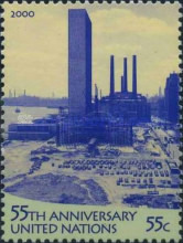 [The 55th Anniversary of the United Nations and the 50th Anniversary of Opening of U.N. Headquarters, New York, type ZW]