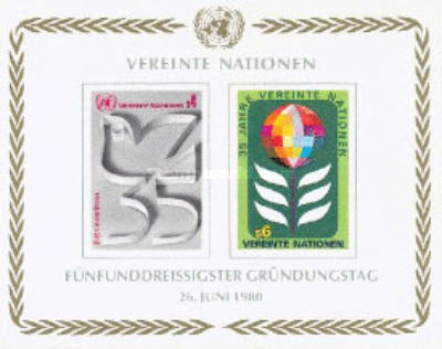 [The 35th Anniversary of the United Nations, type ]